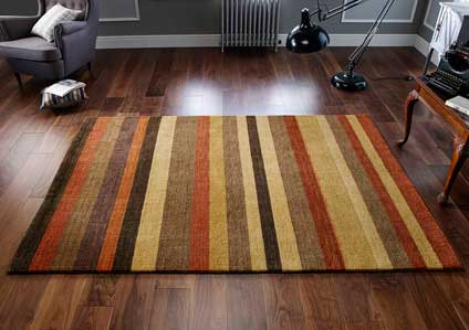 Winslow Stripes Rust Rug