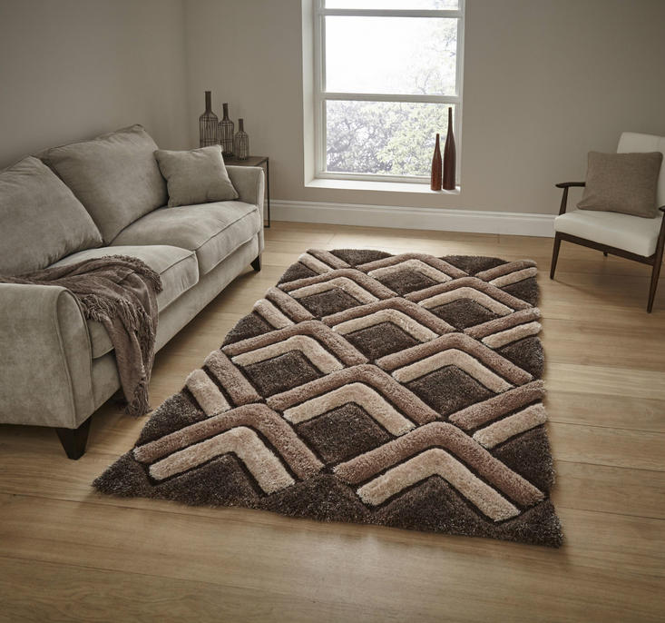 Shaggy - Noble House 8199 Brown Rug
