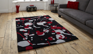 Hong Kong Funky HK-459 Black-Red Rug
