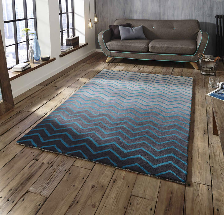 Spectrum SP22 Grey blue Rug