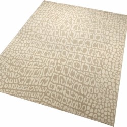 African Safari Croco 0721 08 Cream Beige Rug