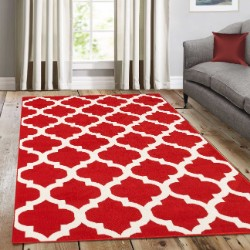 Trendy Red No Border Rug