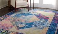 ANKARA GLOBAL ANR04 Blue Mutli Rug