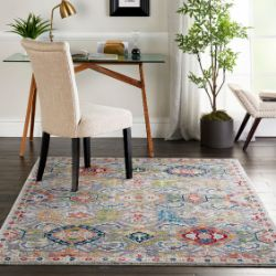 ANKARA GLOBAL ANR12 Grey Multi Rug