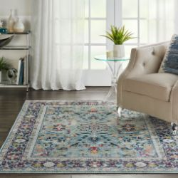 ANKARA GLOBAL ANR14 Teal Multi Rug