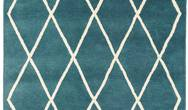 Albany Asiatic Diamond Teal  Rug