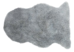 Auckland Luxury Faux Sheepskin Silver Rug
