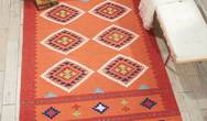 Baja BAJ02 Orange Red Rug