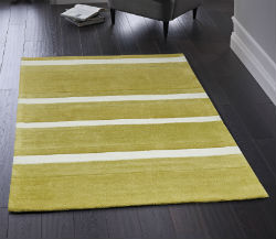 Boston Stripe Green Rug