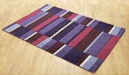 Jazz Blocks Purple Rug