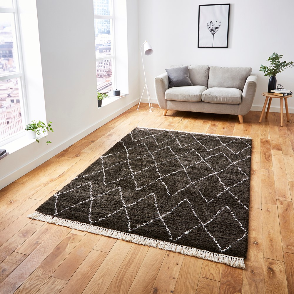 Boho 8280 Brown White Rug