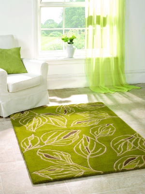 Wilderness Branches Green-Grey Rug