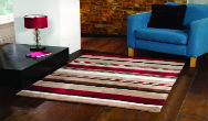 Infinite Braod Stripe Choc-Red Rug