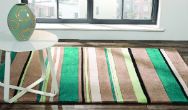 Infinite Braod Stripe Teal Rug