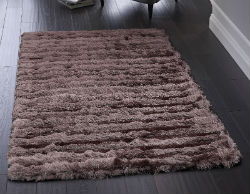 Carved Glamour Purple Rug
