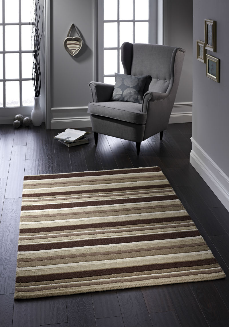 Carved Stripe Natural Rug