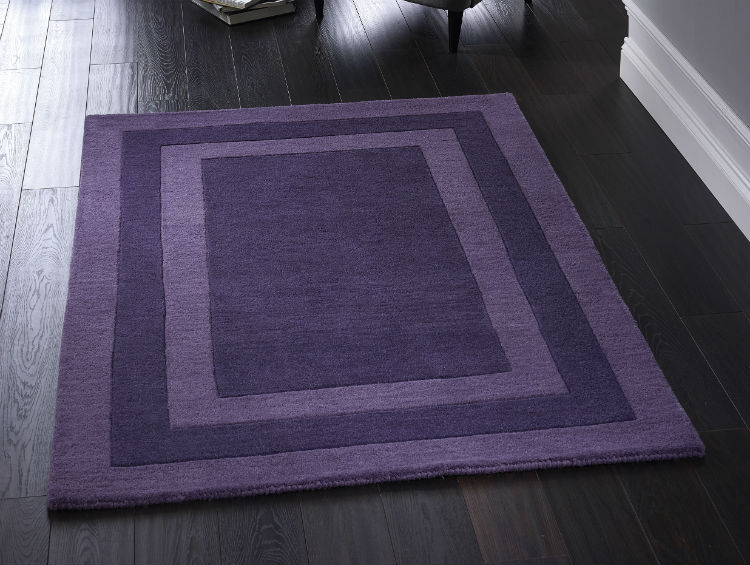 Clayton Boarder Purple Rug