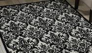 Damask DAS02 Black and White Rug