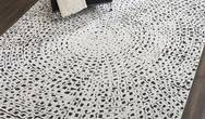Kamala DS502 White Black Rug