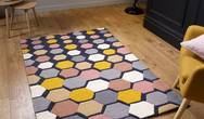 Descent Charcoal Mustard Rug