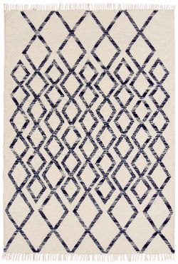 Hackney Kelims Diamond Blue Rug