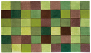 Eden ED-10 Pixel Green / Brown Rug