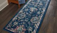 Fusion Nourison FSS15 Navy Pink Rug