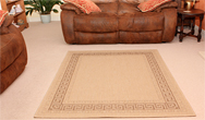 Greek Key Flatweave Beige Rug