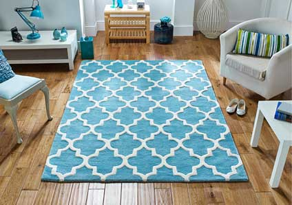 Arabesque Light Teal Rug