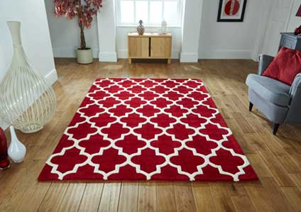 Arabesque Red Rug