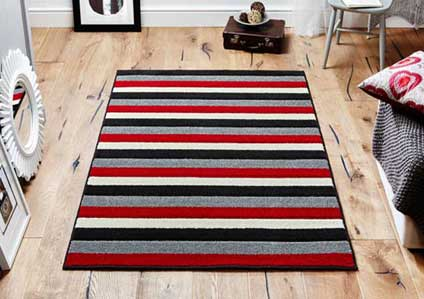 Viva 1090 C Red Black Grey Rug