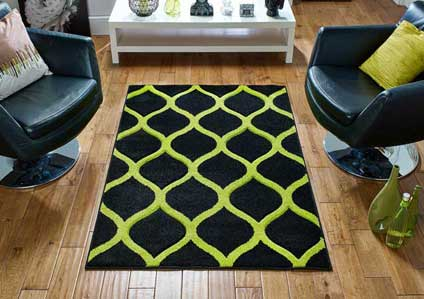 Viva 1095 K Black lime Green Rug