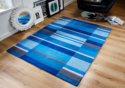 Jazz BLOCKS DUSKY BLUE Rug