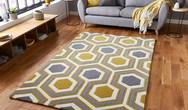 HK 3661 Grey Yellow Rug