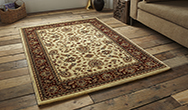 Heritage 993A Ivory - Red Rug