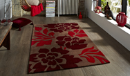 Hong Kong Floral 33L Brown-Red Rug