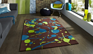 Hong Kong Funky HK-459 Brown-Blue Rug