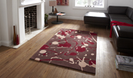 Hong Kong Funky HK-459 Brown-Red Rug