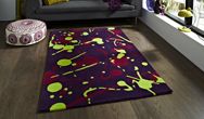 Hong Kong Funky HK-459 Purple-Green Rug