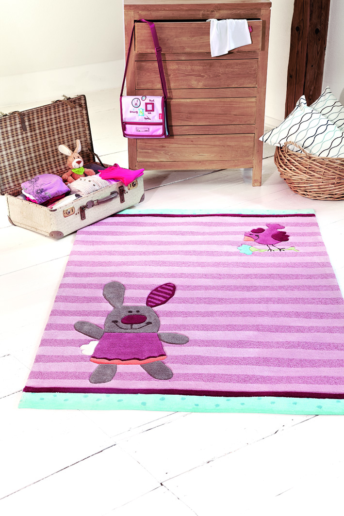 SigiKid 3 3 happy friends stripes 3349-01 Rug