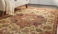 Jewel Nourison JEL01 Cream Red Rug