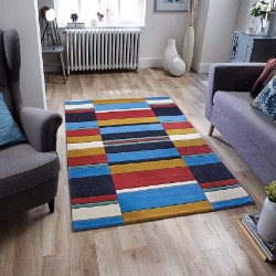 Jazz Blocks Retro Rug