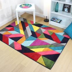 Radiant Jigsaw Multi Rug