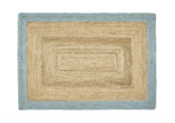 Origins Jute Jute Border Duck egg Rug