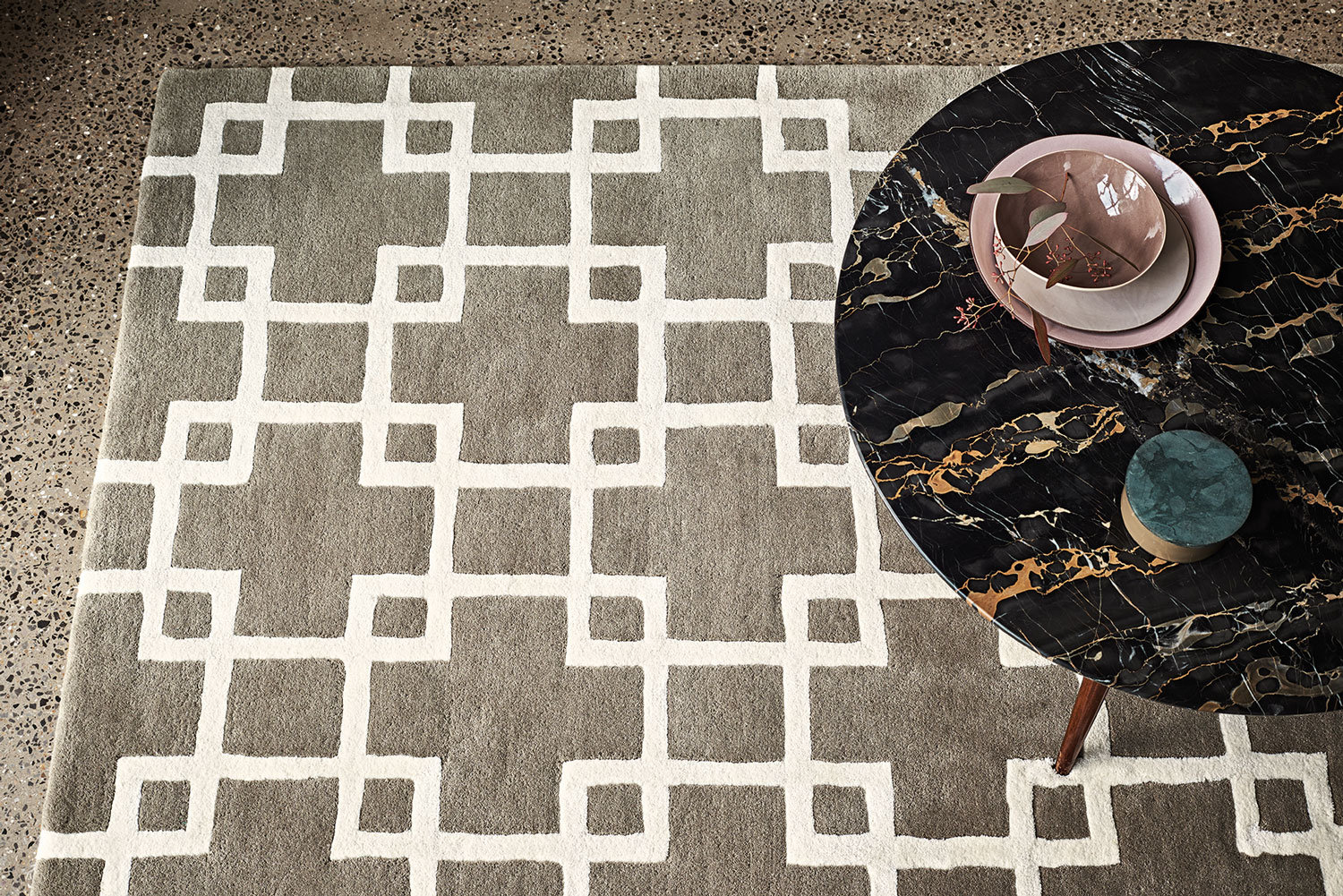 Romo Hand Tufted Cubis 2010 Umber Rug