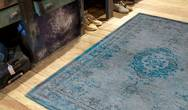 Fading World Medallion 8255 Grey Turquoise  Rug