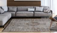 Fading World Medallion 8257 Grey Ebony Rug