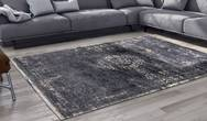 Fading World Medallion 8263 Mineral Black Rug
