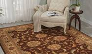 Living Treasures LI04 Brown Rug