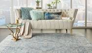 Lustrous Weave LUW02 Blue Ivory Rug